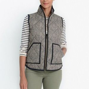 J. Crew Excursion Herringbone Vest G7626